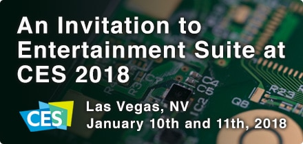 An Invitation to Entertainment Suite at CES 2018